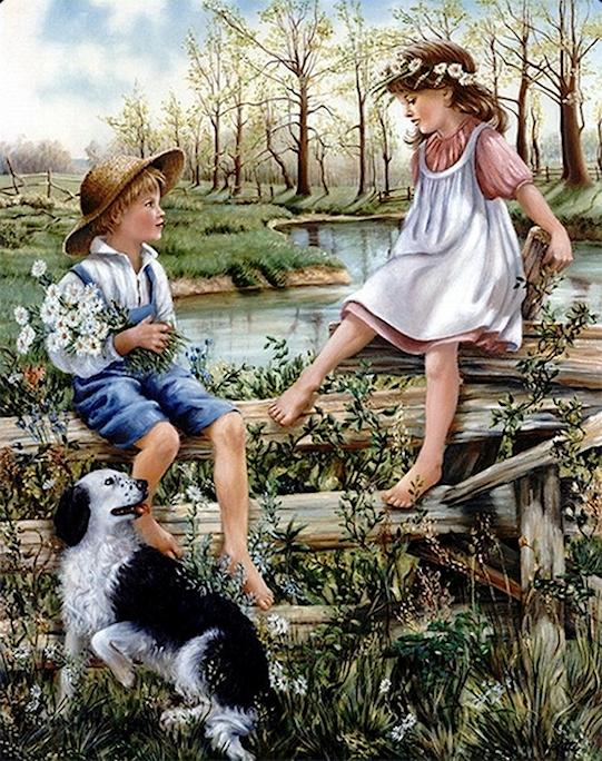L'eau paisible des ruisseaux et petites rivières  18102312163491825