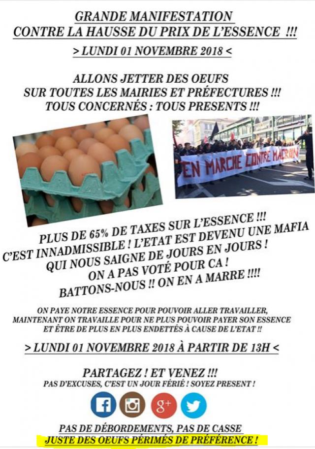 Blocage de la France le 17 Novembre contre le prix des carburants - Page 2 181027110314456445