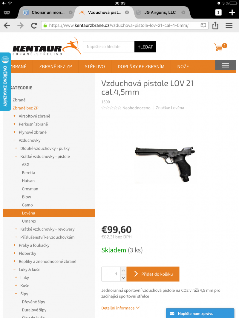 Choisir un monocoup sérieux à prix serré [50-150 euros] pour tirer à la cible à 10m ou moins. - Page 3 181027122006604702