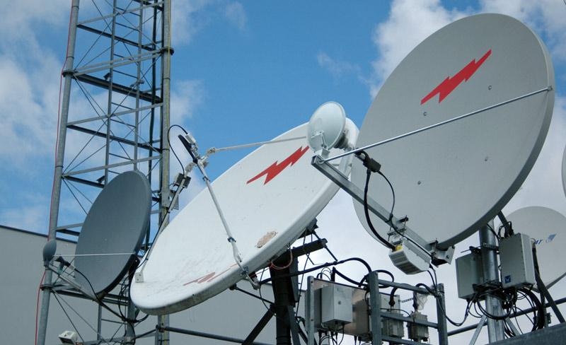 Alouette Vue Antennes Satellite