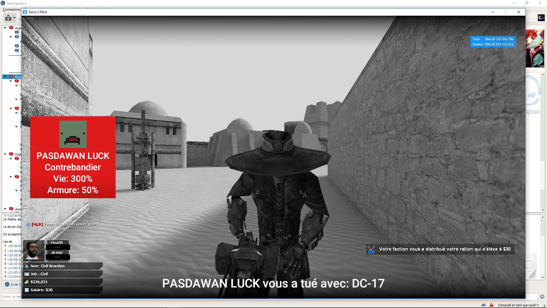 [Traitée] Plainte contre le Padawan Luck (Joueur) | SWRP 181031110842698537