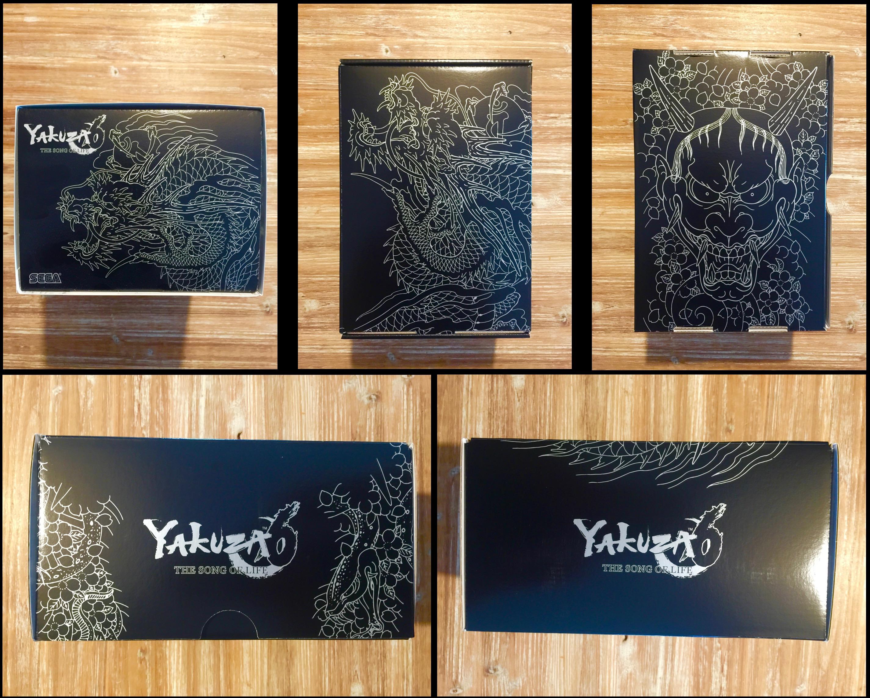 D'un noir profond, sont dessinés dessus toute l'essence du dragon de Dojima, comme souvent un rappel aux tatouages de notre héros. Magnifique.