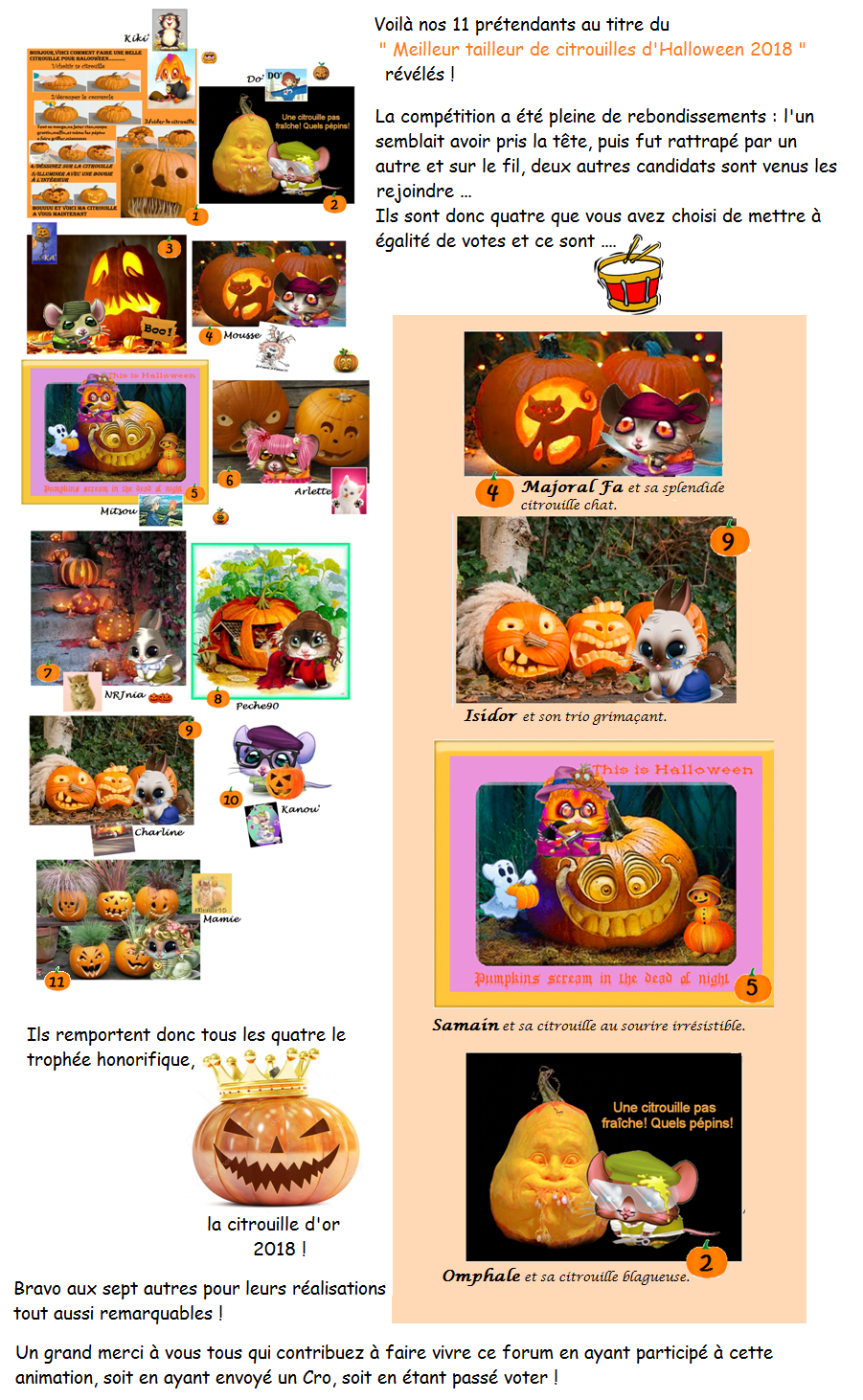 Les tailleurs de citrouilles d'Halloween 181105062222719505