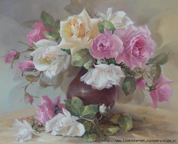 Bouquet dans un vase, une corbeille, une coupe, une poterie  - Page 2 181106033729890