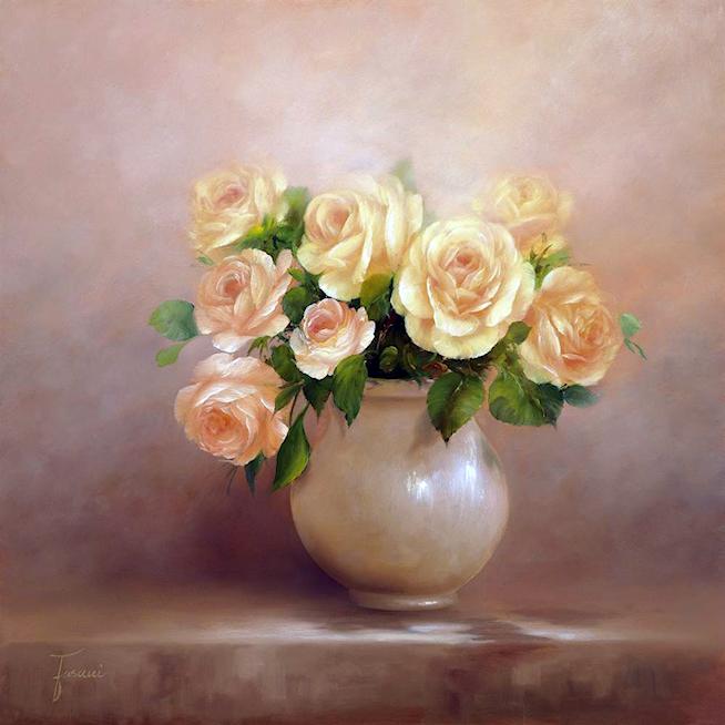 Bouquet dans un vase, une corbeille, une coupe, une poterie  - Page 2 1811060339274138