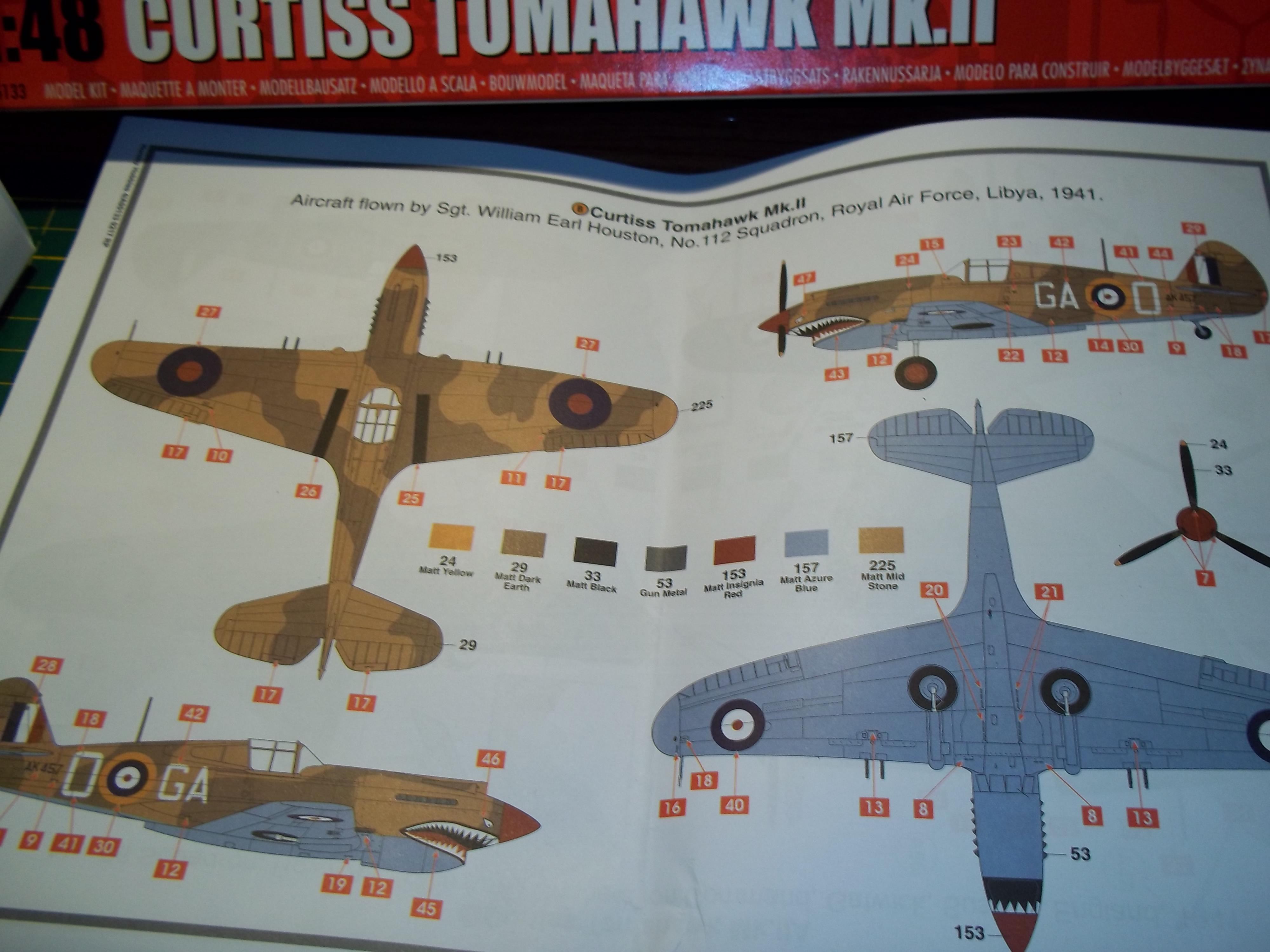 curtiss tomahawk MK.II  airfix 1/48 181107040138846286