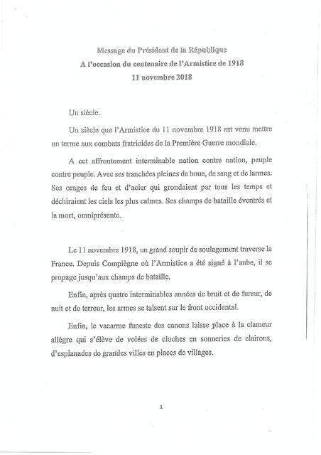 Le discours que Macron impose aux maires de lire 181109044629413241
