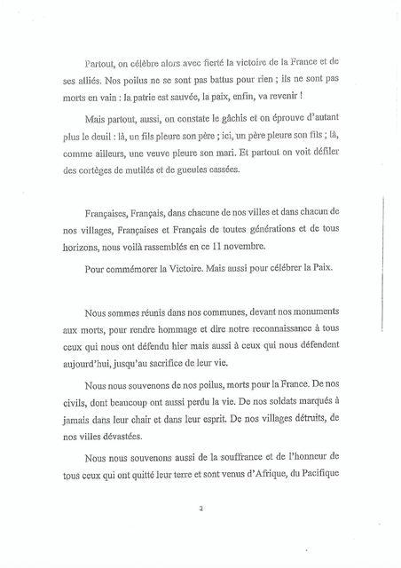 Le discours que Macron impose aux maires de lire 181109044708386275