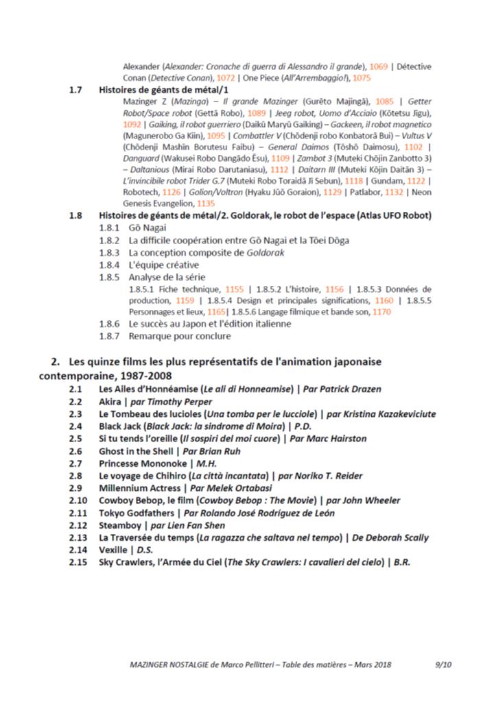 Livre Mazinga nostalgia (Marco Pellitteri) - Réédition 2018 - Page 2 181110084902553516