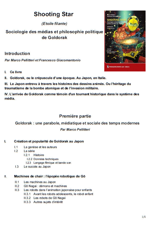 Livre SHOOTING STAR de Marco Pellitteri et Francesco Giacomantonio 181110085629853040