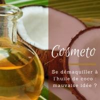 se demaquiller a l'huile de coco
