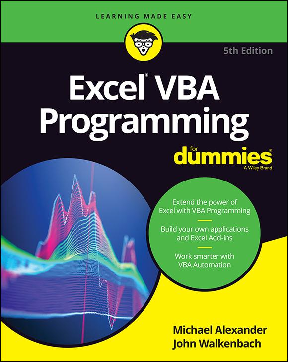 Excel VBA Programming For Dummies, 5th Edition-P2P - Black