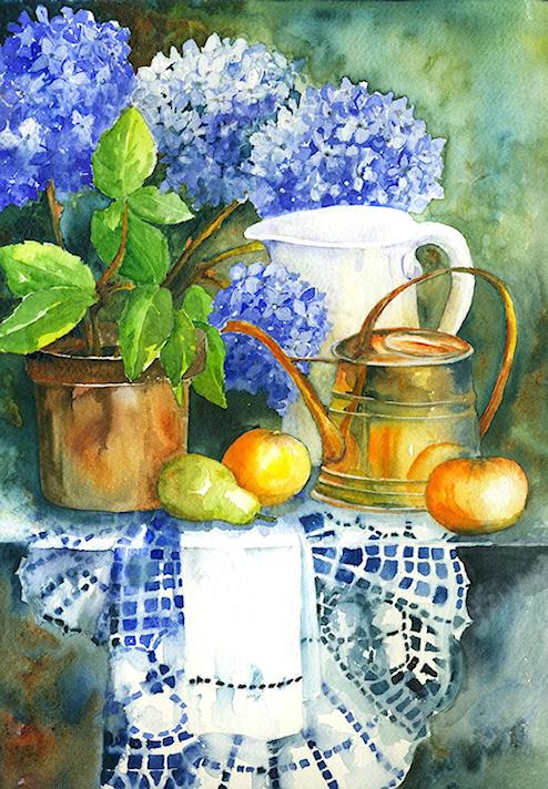 Bouquet dans un vase, une corbeille, une coupe, une poterie  - Page 2 181116080527943072