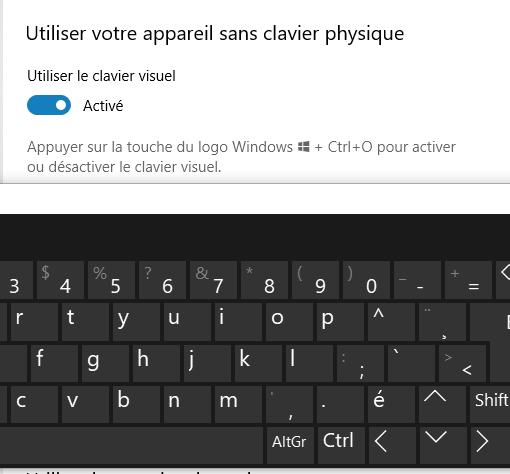 unetouche de mon clavier pc portable ne fonctionne plus