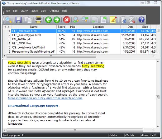 DtSearch Desktop / Engine v7 93 8586-P2P – Releaselog