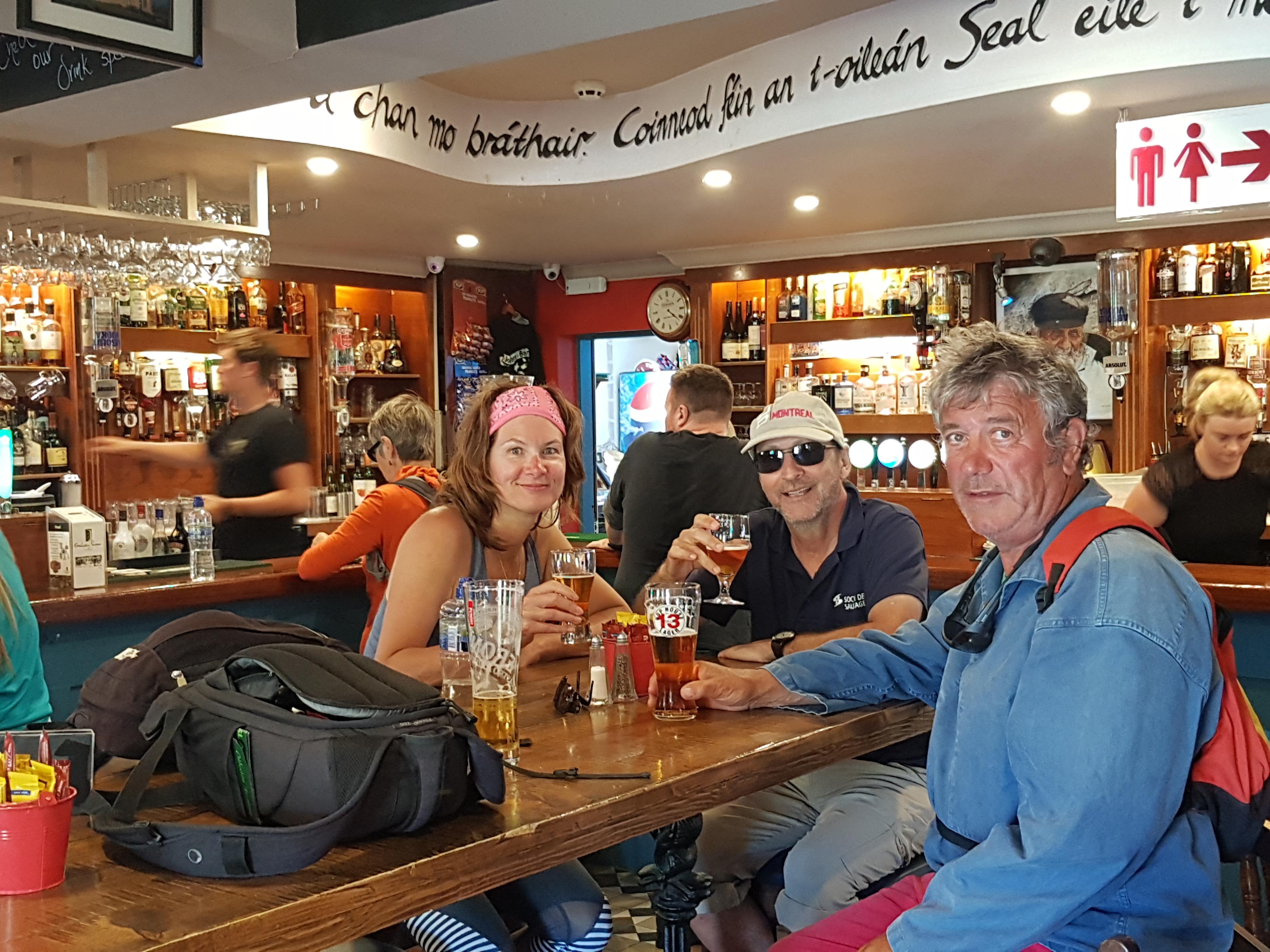 Au pub Joe Watty aux iles d'Aran