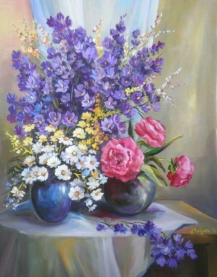 Bouquet dans un vase, une corbeille, une coupe, une poterie  - Page 2 181202111447899167