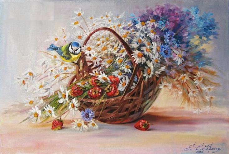 Bouquet dans un vase, une corbeille, une coupe, une poterie  - Page 2 181202112212449713