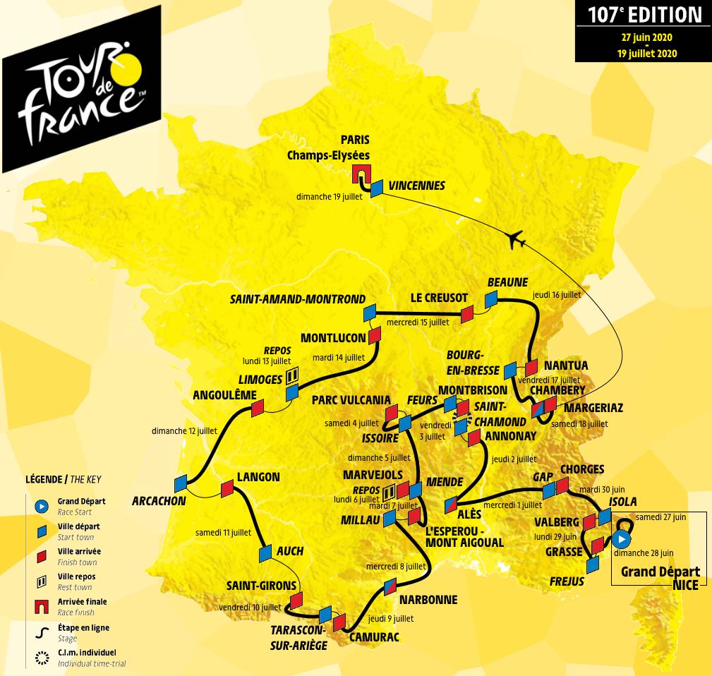 Tour De France 2020 Etappenplan