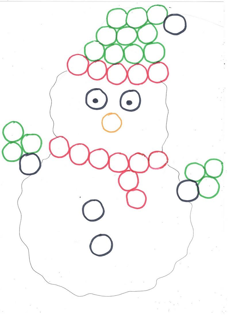 Bricolage D Hiver Un Bonhomme De Neige En Pompons Et Boules De