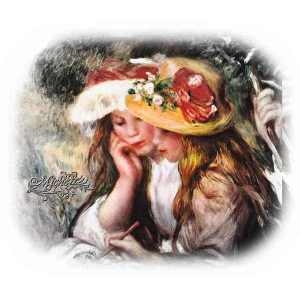 130.Fillettes Renoir