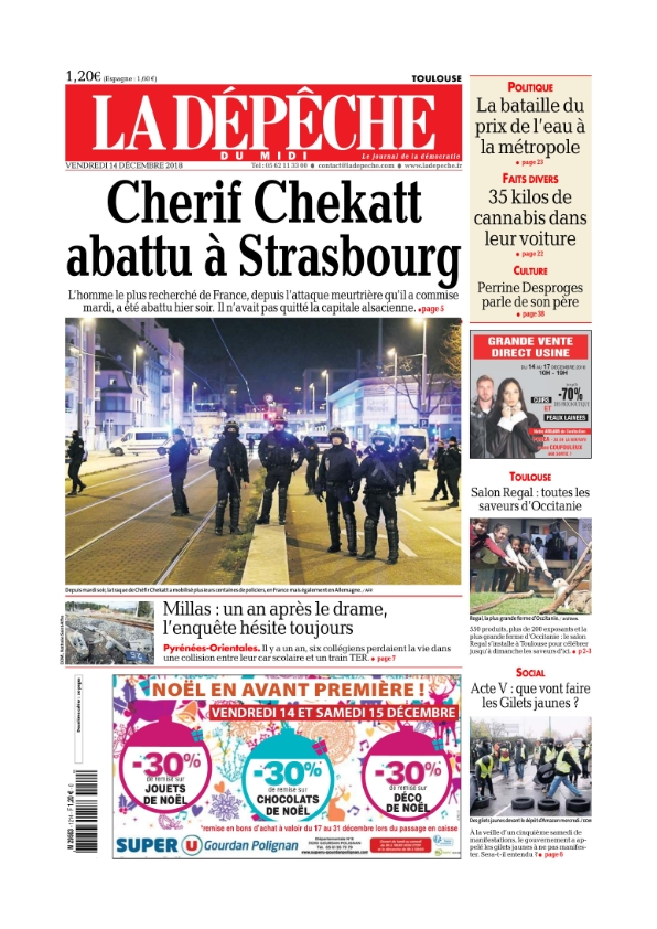 La Dépêche du Midi Toulouse du vendredi 14 décembre 2018