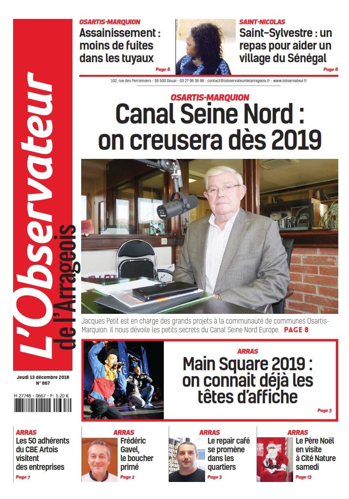 L'Observateur_de_l'Arrageois du jeudi 13 décembre 2018