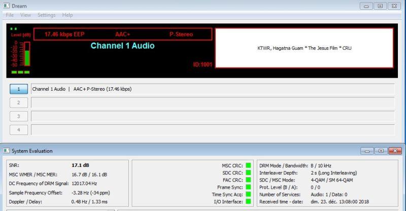 DRM KTWR Channel 1 Audio 23.12.18 7500 13H09 r