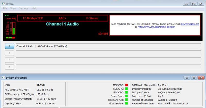 DRM KTWR Channel 1 Audio 23.12.18 7500 13H11 r