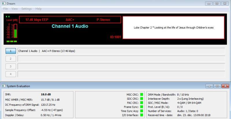 DRM KTWR Channel 1 Audio 23.12.18 7500 13H10 r