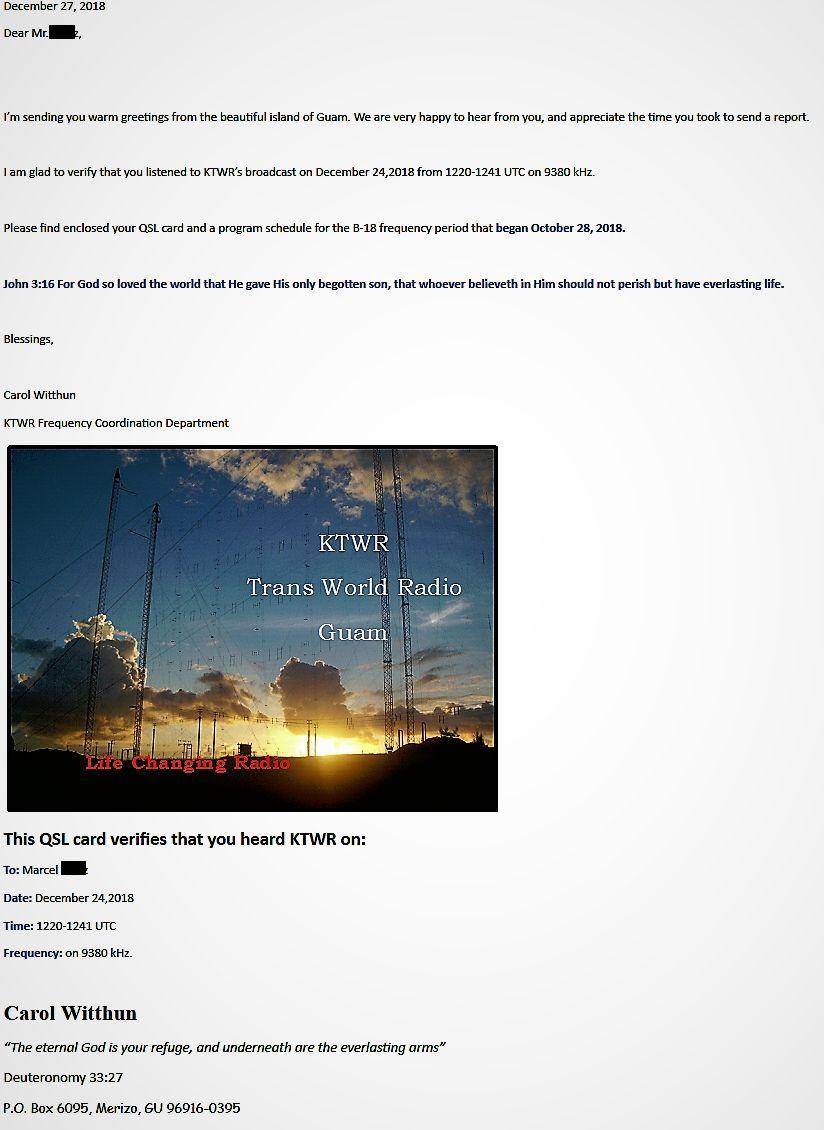 eQSL de KTWR GUAM pour DRM 181228064027617091
