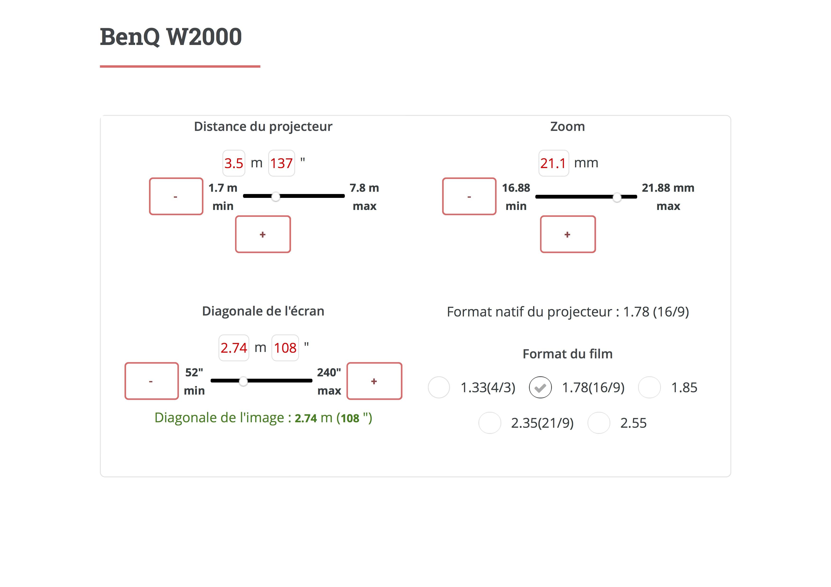 RDC - Plan VP - Calcul Taille Ecran