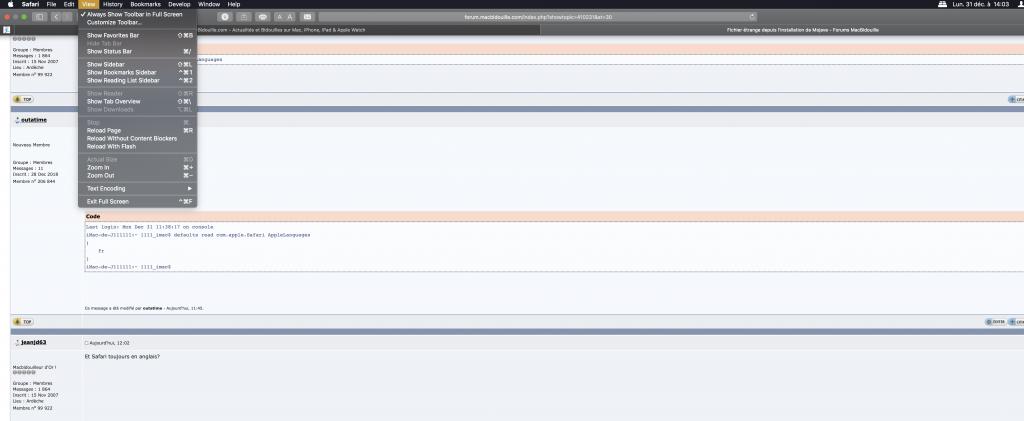 Fichier étrange depuis l'installation de Mojave - Forums