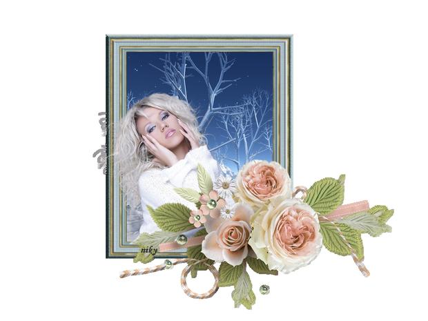 femme rose hiver 1