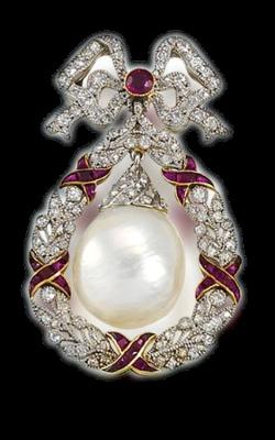 superbe bijou diamants et rubis