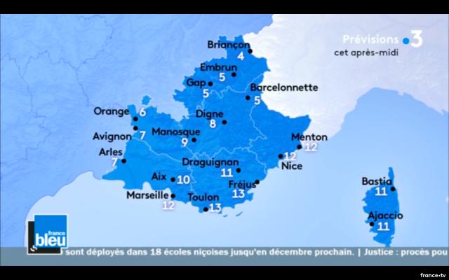 France bleu - Azur météo