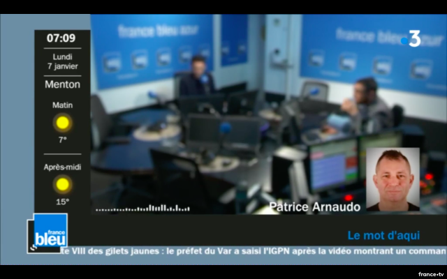 France bleu Azur - habillage journaliste hors studio