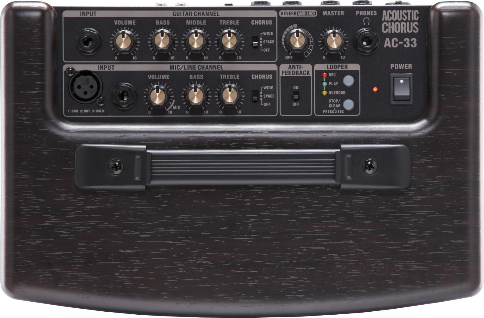 Review - ampli (sur piles ou secteur) Roland AC-33 (avec looper intégré !) 190108051534569677