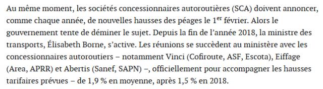 Augmentation des péages dans une France à vendre 190114061236913596